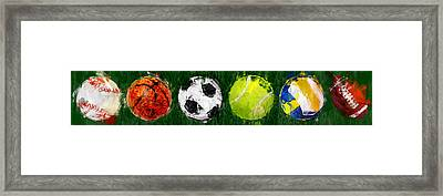 Sports Balls Abstract Framed Print by David G Paul