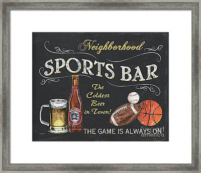 Sports Bar Framed Print by Debbie DeWitt