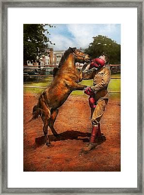 Sports - Boxing - Below The Belt 1924 Framed Print