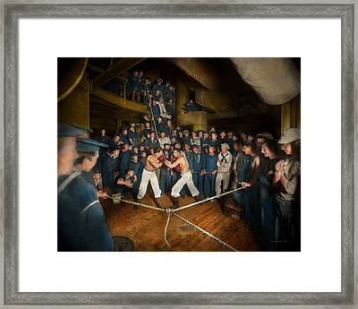 Sports - Boxing - The Second Round 1896 Framed Print by Mike Savad