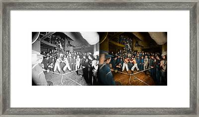 Sports - Boxing - The Second Round 1896 - Side By Side Framed Print by Mike Savad