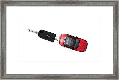 Sports Car Key Framed Print