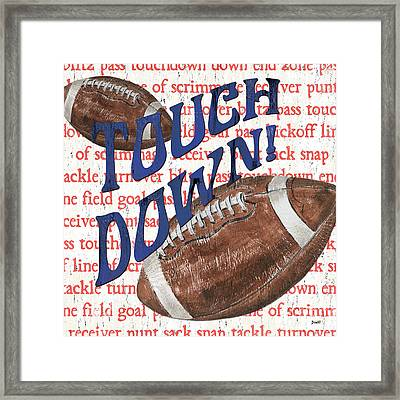 Sports Fan Football Framed Print by Debbie DeWitt