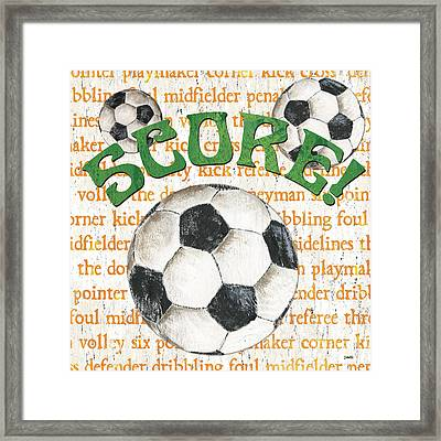 Sports Fan Soccer Framed Print