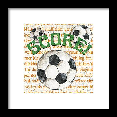 Soccer Ball Framed Prints