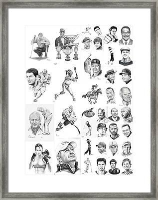 Sports Figures Collage Framed Print