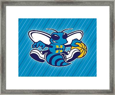 Sports New Orleans Hornets                   Framed Print by F S