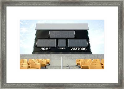 Sports Stadium Scoreboard Framed Print