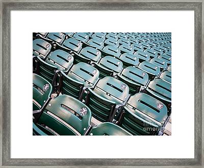 Sports Stadium Seats Photo Framed Print