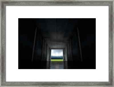 Sports Stadium Tunnel Framed Print