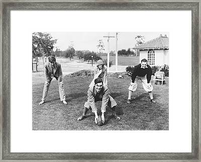 Sports Stars Line Up Framed Print by Underwood Archives