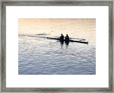 Two-man Crew Framed Print by Art Block Collections