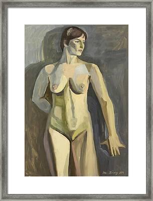Sportswoman Framed Print by Yana Poklad