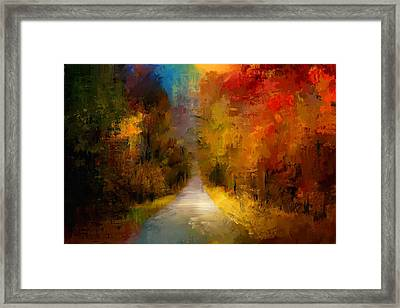 Spotlight On Autumn Framed Print by Jai Johnson