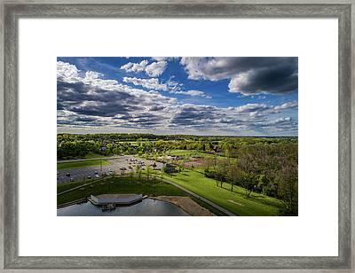 Spotlight On The Park Framed Print