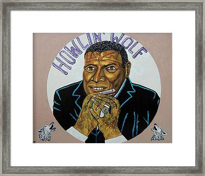 Spotlight On The Wolfman. Framed Print by Ken Zabel