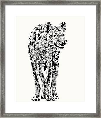 Spotted Hyena Full Figure Framed Print