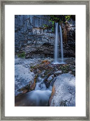 Framed Print featuring the photograph Spouting Rock by Chuck Jason