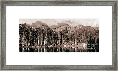 Framed Print featuring the photograph Sprague Lake Morning by Thomas Bomstad