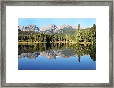 Sprague Lake Rocky Mountains Framed Print by David Yunker