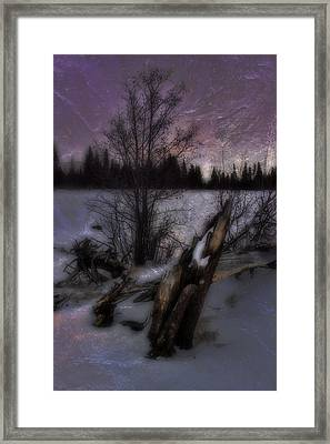 Sprague Lake Winter Dream Framed Print by Ellen Heaverlo