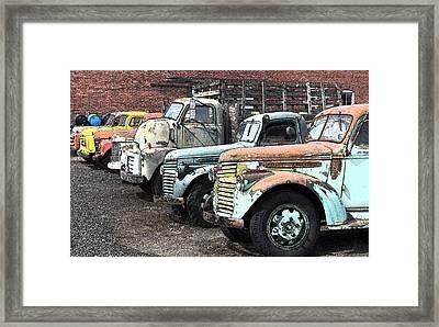 Sprague Trucks Framed Print by Brent Easley