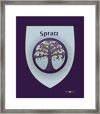 Spratt Family Crest Framed Print