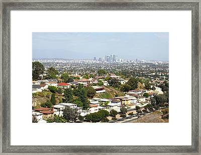 Sprawling Homes To Downtown Los Angeles Framed Print