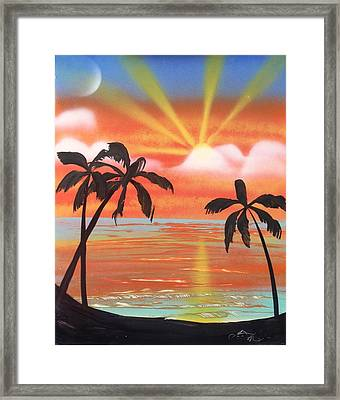 Spray Art Framed Print