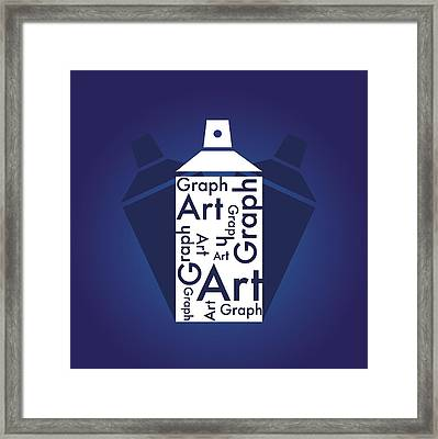 Framed Print featuring the photograph Spray Art Can by Sheila Mcdonald