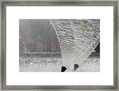 Spray Framed Print