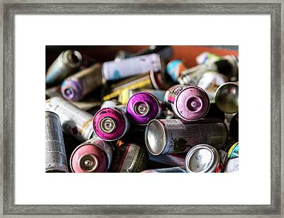 Spray No More Framed Print