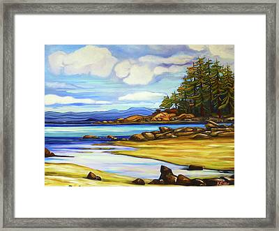 Spray Point Vista Framed Print by Karen Elder