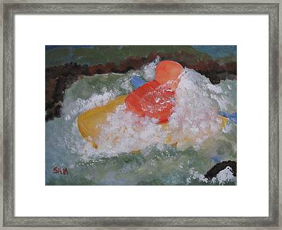 Framed Print featuring the painting Spray by Sandy McIntire