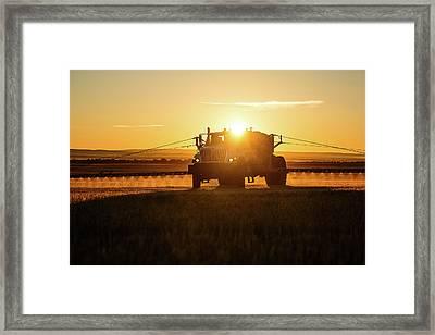 Spraying Wheat Framed Print by Todd Klassy