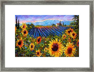 Framed Print featuring the painting Spread A Little Sunshine by Chris Brandley
