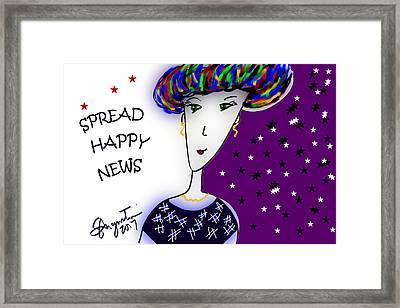 Spread Happy News Framed Print