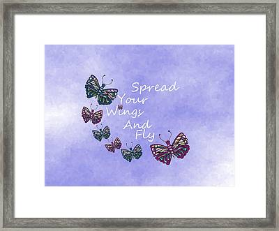 Spread Your Wings And Fly Framed Print by Kathleen Sartoris