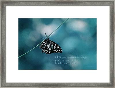 Spread Your Wings Framed Print by Maria Angelica Maira