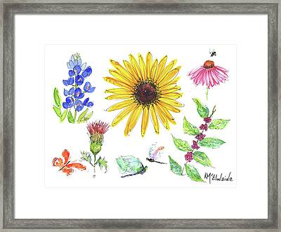 Spring 2017 Medley Watercolor Art By Kmcelwaine Framed Print