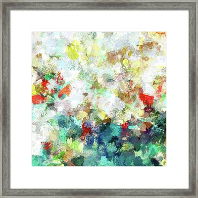 Framed Print featuring the painting Spring Abstract Art / Vivid Colors by Ayse Deniz