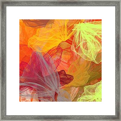 Spring Abundance - Spring Colors Abstract Art Framed Print by Lourry Legarde