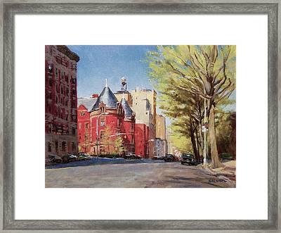 Spring Afternoon, Central Park West Framed Print