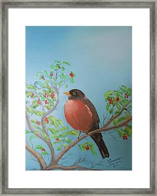 Framed Print featuring the painting Spring by Al Johannessen