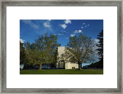 Spring Arrives At The Prospect Valley Community Church Framed Print