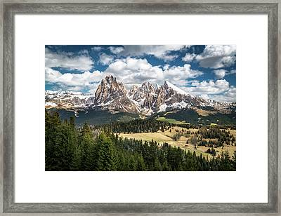 Spring At Alpe Di Suisi Framed Print by James Udall