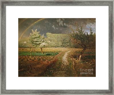 Spring At Barbizon Framed Print by Jean Francois Millet