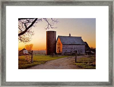 Spring At Birch Barn Framed Print
