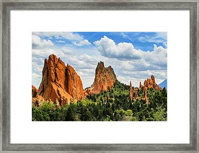 Spring At Garden Of The Gods Framed Print