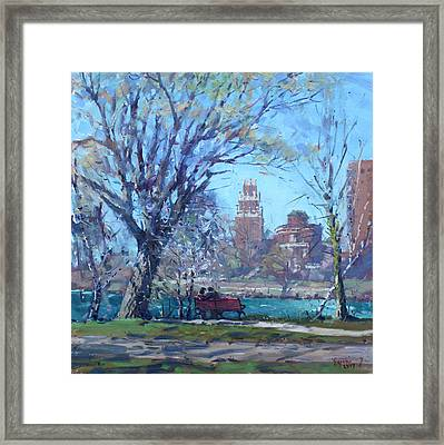Spring At Goat Island Framed Print by Ylli Haruni